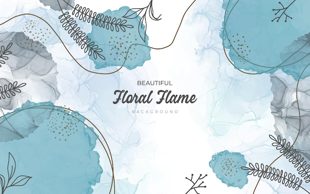 Hand drawn style floral background