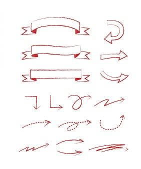 コンセプトデザインの手描きスタイル。落書きイラスト。装飾用テンプレート
