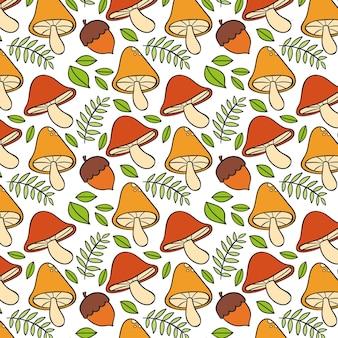 Ручной обращается стиль грибной узор