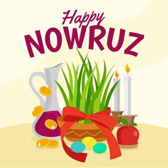 Hand drawn style nowruz event