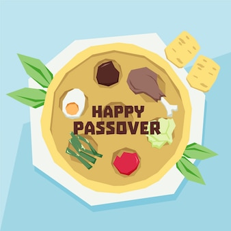 Hand drawn style passover event