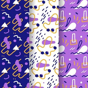 손으로 그린 스타일 패턴 컬렉션