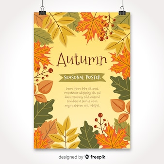 Hand drawn style seasonal poster collection
