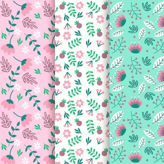 Hand drawn style spring pattern collection