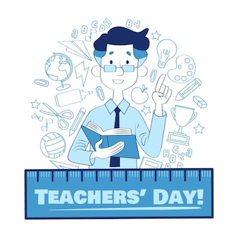 Hand drawn style teachers' day event