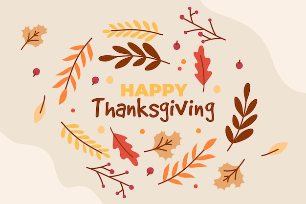 Hand drawn style thanksgiving background