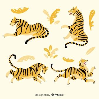 Ручной обращается стиль коллекции тигров