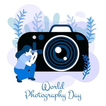 Hand drawn style world photography day
