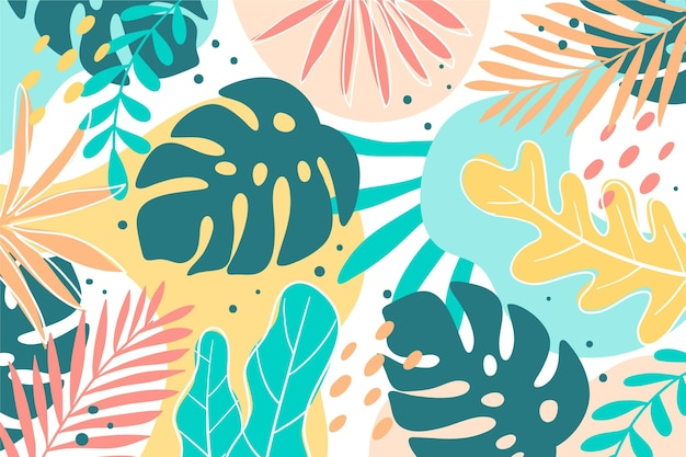 Hand drawn summer background for videocalls