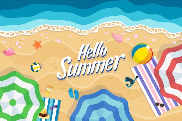 Hand drawn summer background