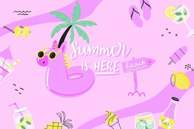 Sfondo estate disegnata a mano