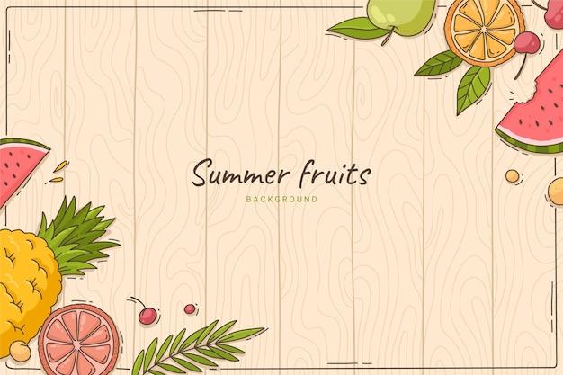 手描きの夏の背景