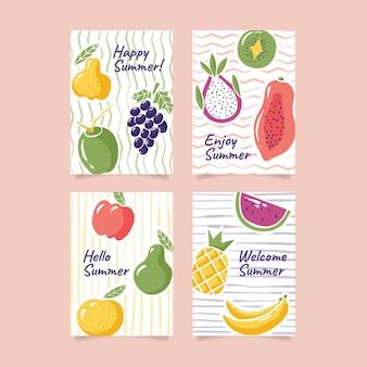 Modello di raccolta carta estate disegnata a mano