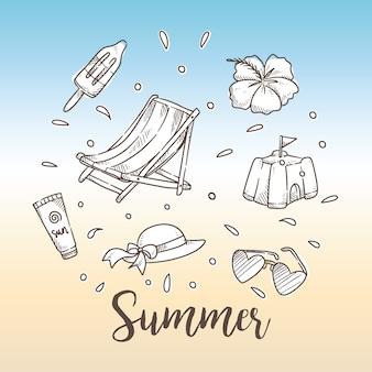 手描きの夏のおとぎセット