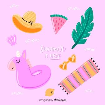 Hand drawn summer element collection