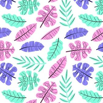 Hand drawn summer elements pattern