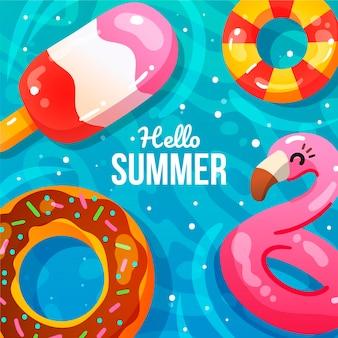 Illustrazione di estate disegnata a mano