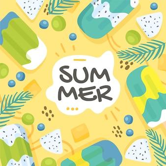 Hand drawn summer illustration