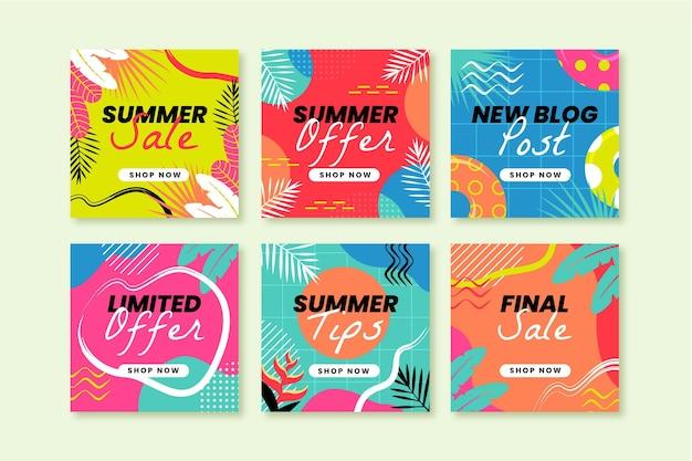 손으로 그린 여름 instagram 게시물 모음