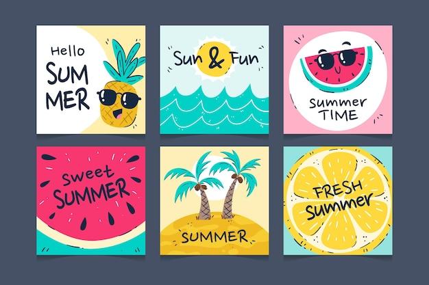 手描きの夏のinstagramの投稿コレクション