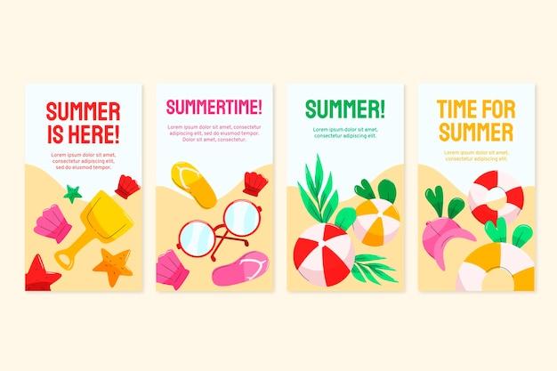 손으로 그린 여름 instagram 이야기 모음