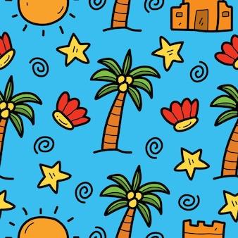 Ручной обращается летний каваи каракули дизайн мультяшного рисунка