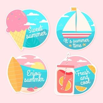 手描き夏ラベルコンセプト