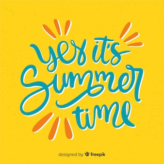 Hand drawn summer lettering background