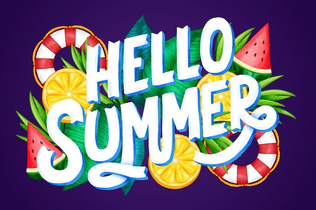 Hand drawn summer lettering
