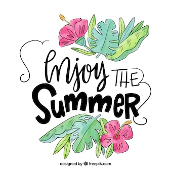 Hand drawn summer quote design