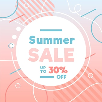 Hand drawn summer sale banner