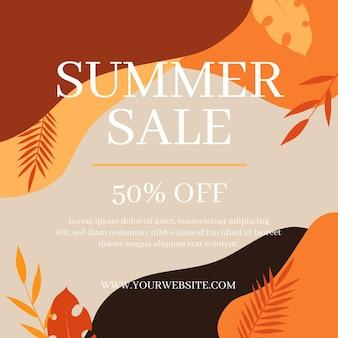 Hand-drawn summer sale concept
