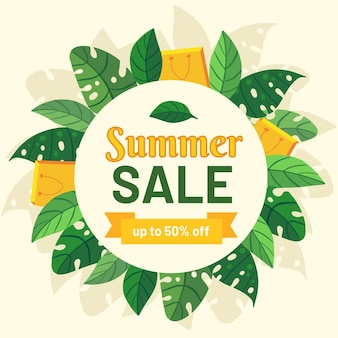 Hand drawn summer sale concept