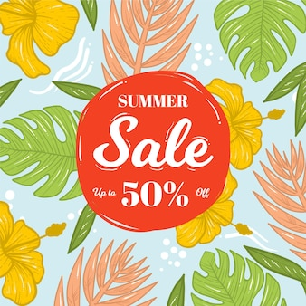 Hand drawn summer sale