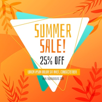 Hand-drawn summer sale