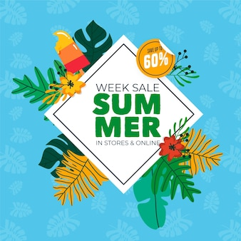 Hand drawn summertime week sale