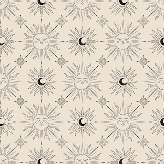 Hand drawnsun pattern