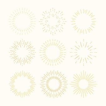 Hand drawn sunburst collection