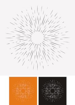 Hand drawn sunburst