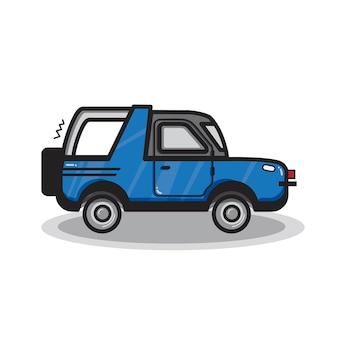 Illustrazione di auto suv disegnata a mano