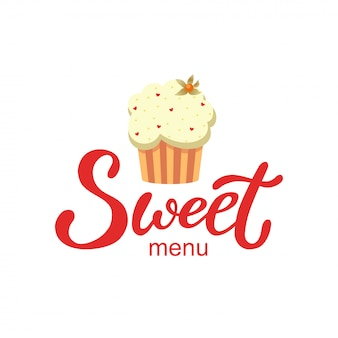 Hand drawn sweet menu logo