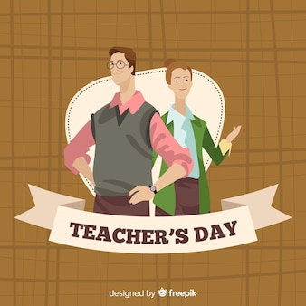 Hand drawn teachers day background