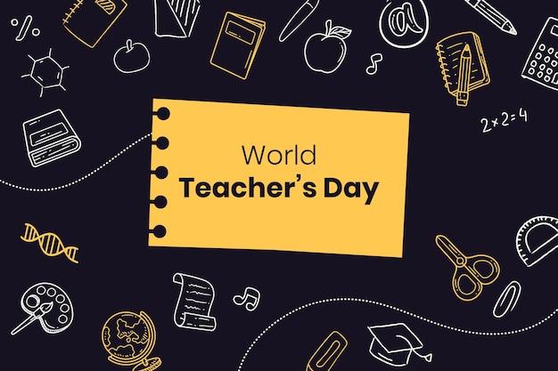 Hand drawn teachers' day background