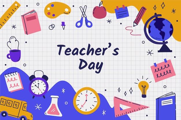 手描きの先生の日のイラスト