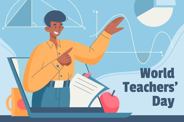 Hand drawn teachers' day illustration