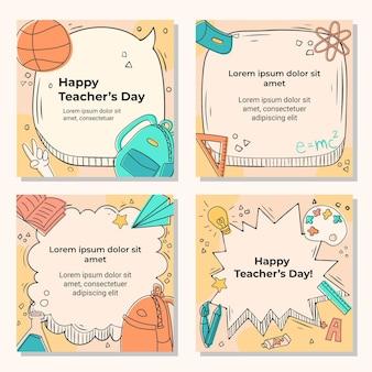 Коллекция постов в instagram на день учителя