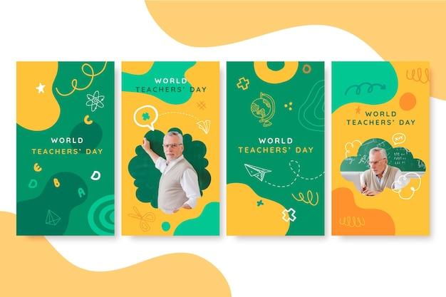 사진이 있는 손으로 그린 스승의 날 인스타그램 스토리 컬렉션