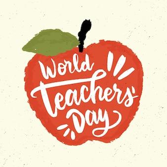 Iscrizione del giorno degli insegnanti disegnata a mano