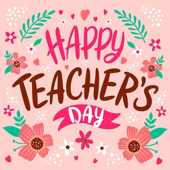 Hand drawn teachers' day lettering