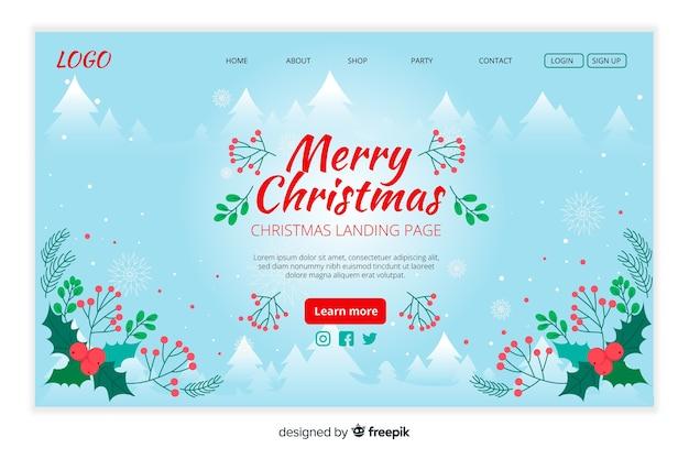 Ручной обращается шаблон рождественская целевая страница